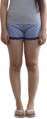 Slumber Jill Printed Women's Light Blue Night Shorts