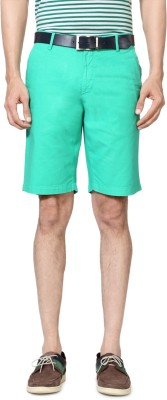 Allen Solly Solid Men's Green Basic Shorts
