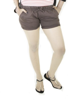 Redzo Solid Women's Brown Hotpants