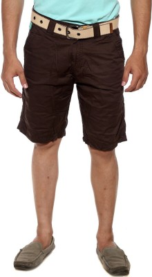 Sports 52 Wear Solid Men's Brown Basic Shorts