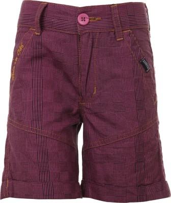 Ice Boys Printed Boy's Brown Basic Shorts