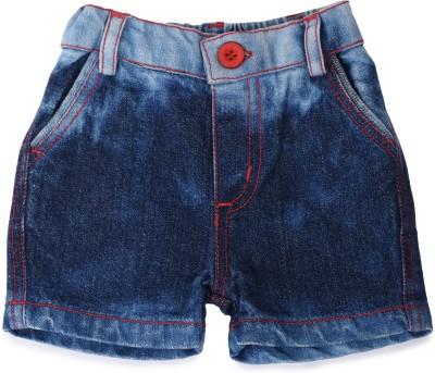 Tillu Pillu Solid Baby Boy's Blue Denim Shorts