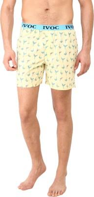 I-Voc Animal Print Men's Yellow, Blue Boxer Shorts