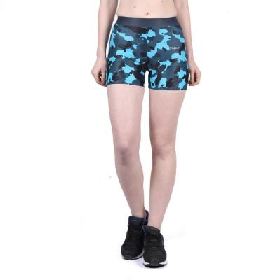 Yogue Printed Women's Blue, Black Gym Shorts