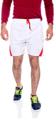 Choice4U Solid Men's Reversible White, Red Sports Shorts