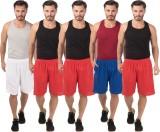 Meebaw Self Design Men's White, Red, Red...