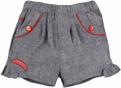 Mom & Me Solid Baby Girl's Grey Beach Shorts