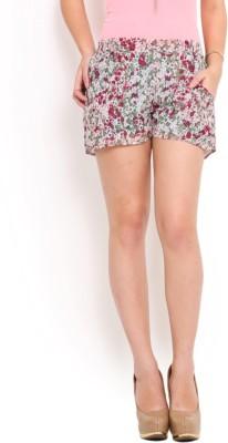 Trend Arrest Printed Women's Purple Basic Shorts