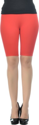 Frenchtrendz Solid Women's Red Chino Shorts