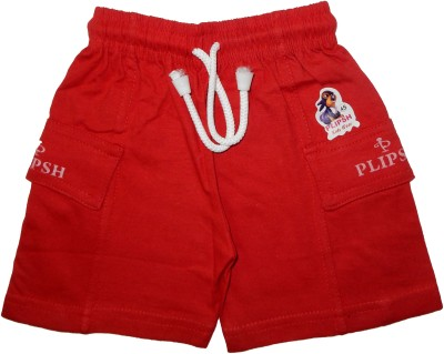 PLIPSH Slim Fit Boy's Red Trousers