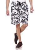 Shootr Printed Men's White Bermuda Short...