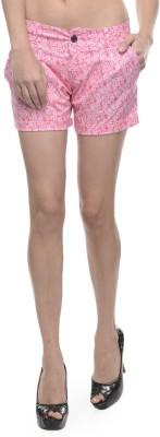 Sobre Estilo Floral Print Women's Pink Hotpants