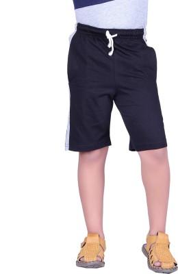 Vivid Bharti Solid Boy's Black, Grey Basic Shorts