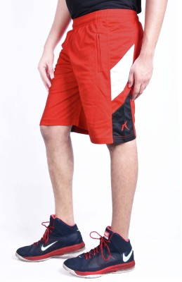 Repugn Solid Men's Red Sports Shorts