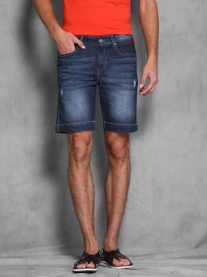 WROGN Woven Men's Blue Denim Shorts