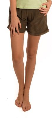 Bombay High Solid Women's Green Basic Shorts