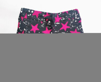 Tomato Geometric Print Girl's Black, Pink Basic Shorts