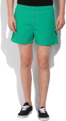 Russell Athletic Solid Men's Green Basic Shorts
