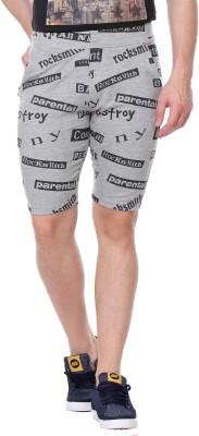 TAB91 Printed Men's Grey Basic Shorts