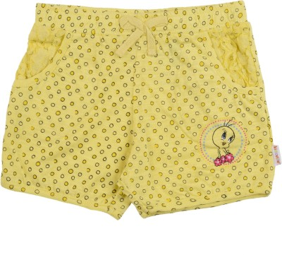 Tweety Printed Girl's Yellow Basic Shorts