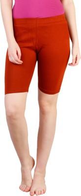 Rham Solid Women's Orange Basic Shorts