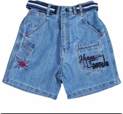 Don Solid Boy's Light Blue Denim Shorts