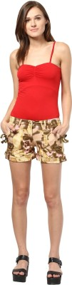 The Vanca Printed Women's Multicolor Basic Shorts at flipkart
