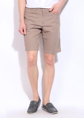 Allen Solly Solid Men's Beige Shorts