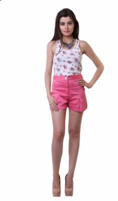 Belle Fille Solid Women,s Pink Basic Shorts