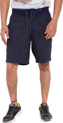 Tam Creatio Striped Men's Blue Basic Shorts
