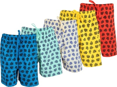WEECARE Graphic Print Boy's Red, Gold, Light Blue, Light Green, Yellow Bermuda Shorts