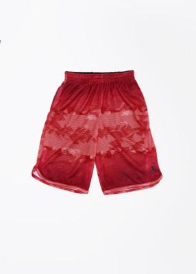 Jordan Kids Self Design Boy's Red Sports Shorts