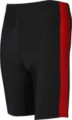 Rovars Solid Men's Black, Red Cycling Shorts, Sports Shorts