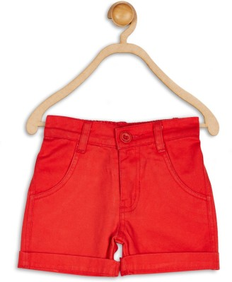 612 League Solid Baby Boy's Red Basic Shorts