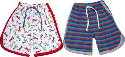Pepito Printed Baby Boy's White Bermuda Shorts