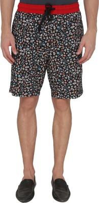 Jadeblue Printed Men's Black Bermuda Shorts