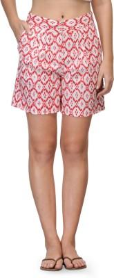 Kiosha Printed Women's Pink Basic Shorts