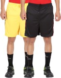 Lyril Solid Men's Yellow, Black Sports S...