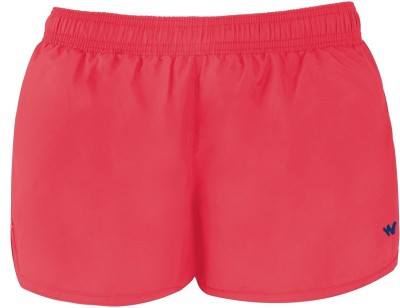 Wildcraft Solid Women's Red Running Shorts