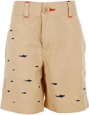 Ice Boys Printed Boy's Beige Basic Shorts