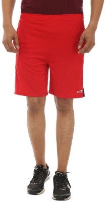 TeeMoods Solid Men's Red Sports Shorts, Basic Shorts