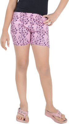 Just4You Printed Girl's Pink Night Shorts