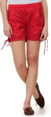 Dazzgear Solid Women's Red Basic Shorts