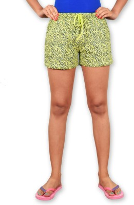 Riot Jeans Printed Women's Light Green Boxer Shorts