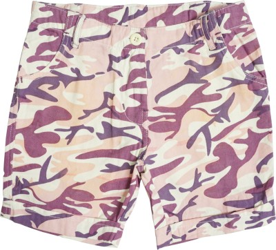 Cub Printed Girl's Pink, Purple Hotpants