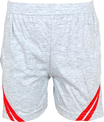 Gee & Bee Solid Boy's White Sports Shorts