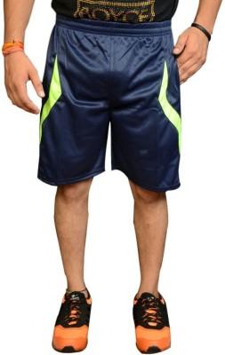 Jarwal Collection Self Design Men's Blue, Blue Basic Shorts