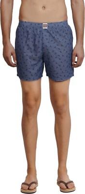 California Club Printed Men's Grey Boxer Shorts