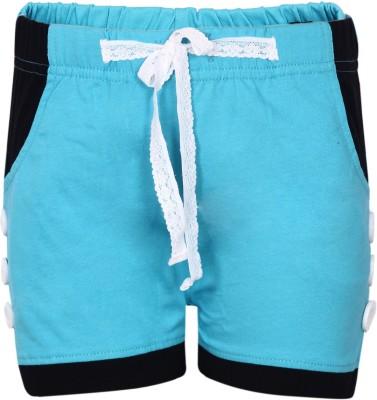 Dreamszone Solid Women's Blue Hotpants
