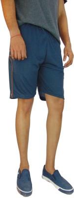 B VOS Printed Men's Blue Basic Shorts